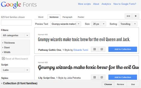 Using Google fonts API | Web Design and Development | Scoop.it