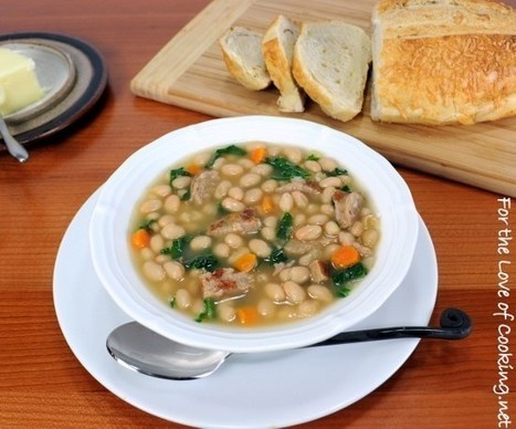White Bean Soup with Kale and Turkey Italian Sausage ... | 4-Hour Body Bean Cookbook | Scoop.it