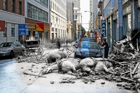 Composite Then and Now Photos of the 1906 San Francisco Earthquake | Coastal Restoration | Scoop.it