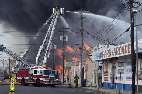 Fire rages along New Jersey boardwalk damaged by Sandy - CBS News | Restoration | Scoop.it