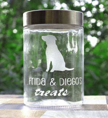 Custom Dog Treats Jar Pet Gift Dog Gift for Pet Lovers in Calgary and Edmonton… | Pet Plax | Scoop.it