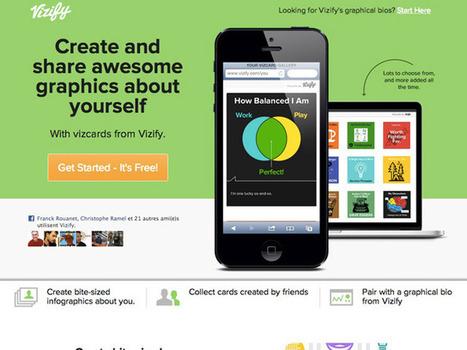 Vizify lance les Vizcards, des mini infographies personnalisables | Geeks | Scoop.it