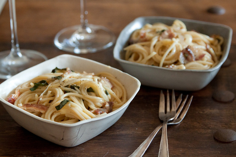 Brie, Bacon and Basil Pasta | À Catanada na Cozinha Magazine | Scoop.it