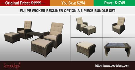 Fiji PE Wicker Recliner Option A 5 Piece Bundle Set | Home Decor (Wicker Furniture) | Scoop.it