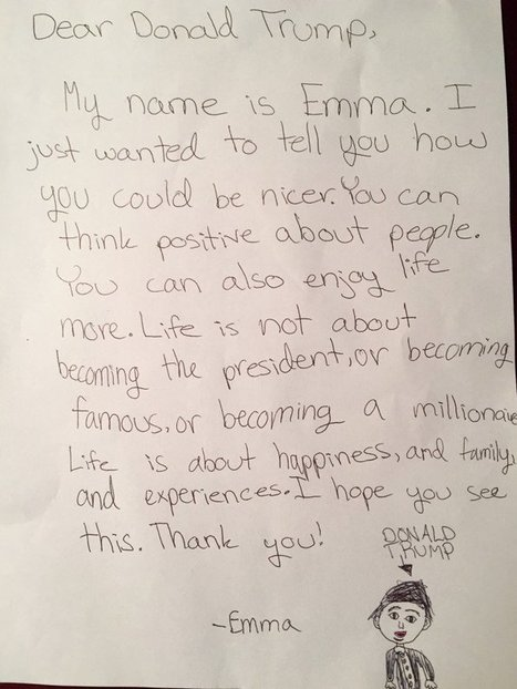 Dear Donald Trump: A Letter from My Daughter. | This Gives Me Hope | Scoop.it