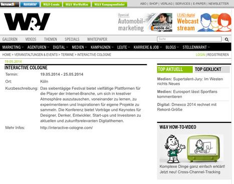 W&V: Interactive Cologne   Web de Cologne   Scoop.it