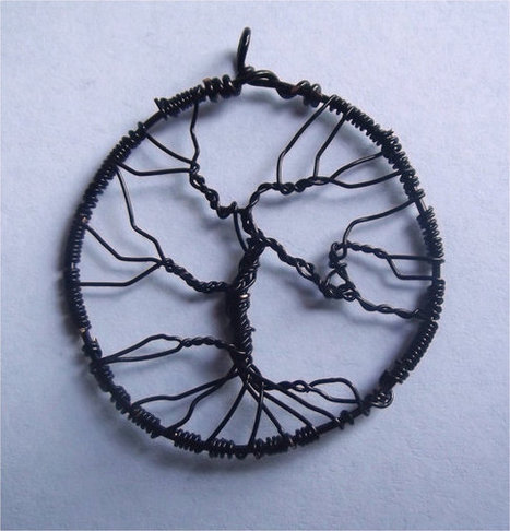 Black WireTree of Life Pendant | Handmade Items | Scoop.it
