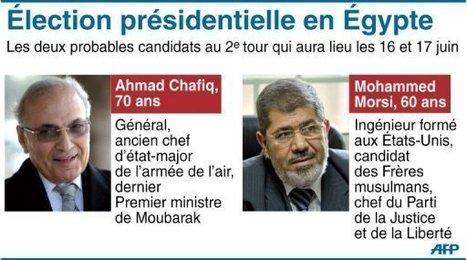 Egypte: un islamiste contre une figure de l'ère Moubarak au 2e tour de la présidentielle | Égypt-actus | Scoop.it