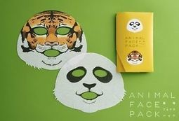 Animal Face Pack - Ueno Zoo panda, tiger beauty masks, from Japan | Hair There and Everywhere | Scoop.it