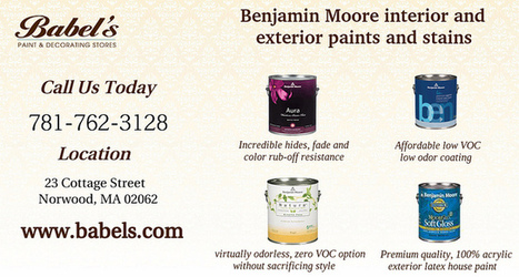 Benjamin Moore Interior And Exterior Paints | Babels Paint and Decorating Stores | Scoop.it