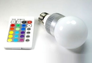 Lampada a bulbo 5w RGB con telecomando | Shopping Club365 | Scoop.it