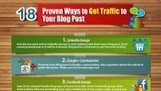 18 Ways to Generate Traffic to Your Blog Post [INFOGRAPHIC] | Social Media Today | Educational Technology - Yeshiva Edition | Scoop.it