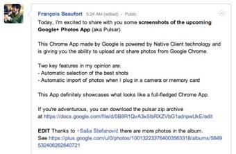 Dev teases Google+ Photos app for Chrome (Photos) | Social Networking Services | Scoop.it