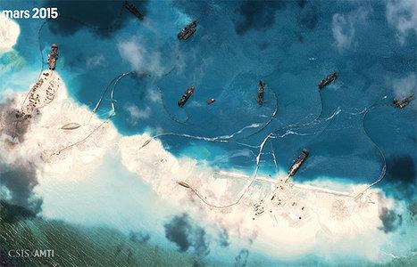 La Chine construit une île artificielle dans une zone disputée - Courrier International | En amont | Scoop.it