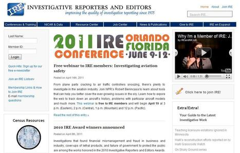 IRE - Investigative Reporters and Editors | Top sites for journalists | Scoop.it
