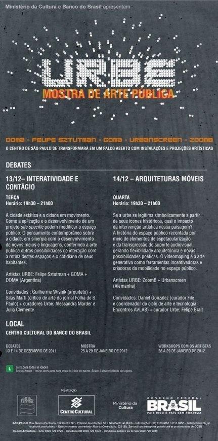 CCBB promove debate sobre Arte Pública com artistas internacionais, por URBE | Economia Criativa | Scoop.it