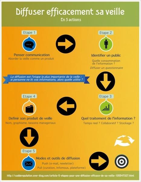 Infographie : comment diffuser les résultats de sa veille ? | e-reputation | Scoop.it