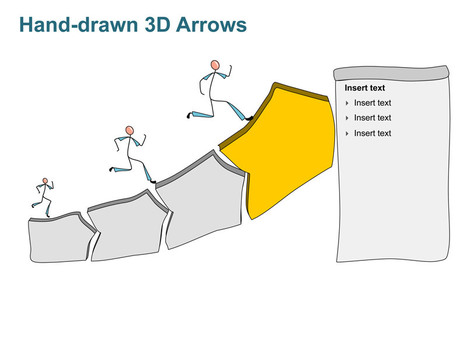3D Arrows PowerPoint Slide - Hand-drawn | PowerPoint Presentation Tools and Resources | Scoop.it