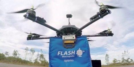 Santé : Stork-X8, ce drone prêt à voler à notre secours | Drone | Scoop.it