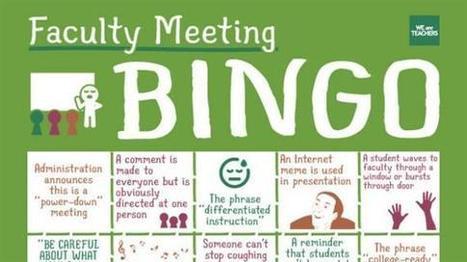 The Official Faculty Meeting Bingo Card - WeAreTeachers | Teach-ologies | Scoop.it