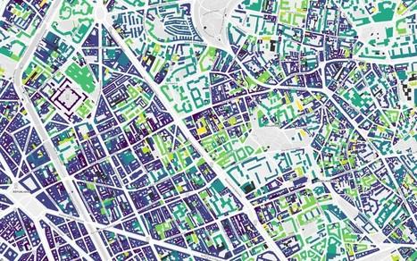Une carte de l'age des bâtiments de Paris | revue de johane | Scoop.it