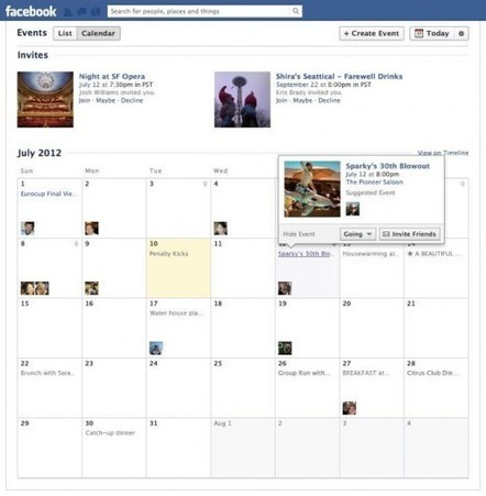 """With a brand new event view, Facebook continues its march to """"social operating system"""" 