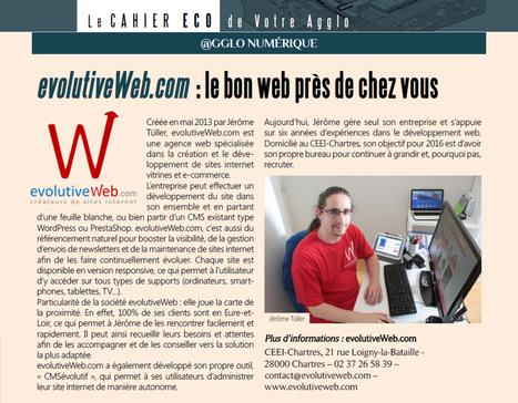 Article dans le magazine Votre Agglo de Chartres Métropole d'été 2016 - Actualités - evolutiveWeb.com | Actus de l'agence, infos et conseils en e-communication et entrepreunariat | Scoop.it