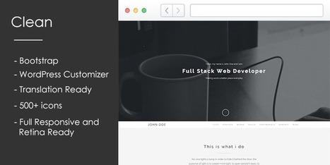 Clean - Portfolio WordPress Theme | wp theme | Scoop.it