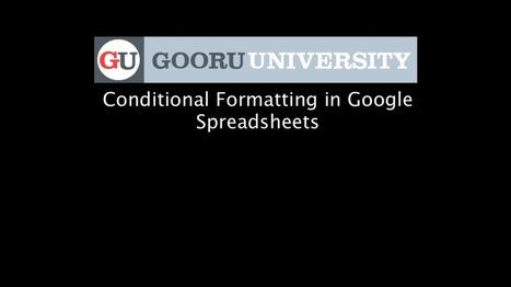 Google Spreadsheets Intermediate Tutorials | Google Gooru (free) | iwb's | Scoop.it