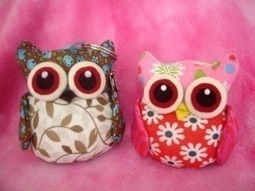Fabric Plush Stuffed Owl Sewing Pattern Pin Cushion Toy image - vector clip art online, royalty free & public domain | Kids craft projects | Scoop.it