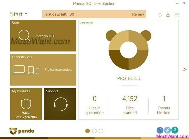 Panda Gold Protection 2016 Free 6 Months Trial Activation Code - Most i Want