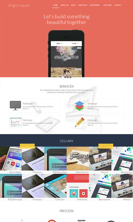 Top 10 Free Responsive HTML5 Bootstrap Website Templates of 2015 | W3lessons | Scoop.it