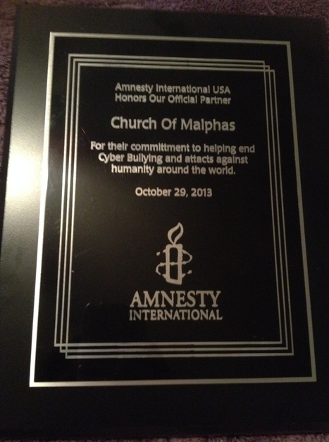 Church Of Malphas Honored By Amnesty International | Church Of Malphas | Scoop.it