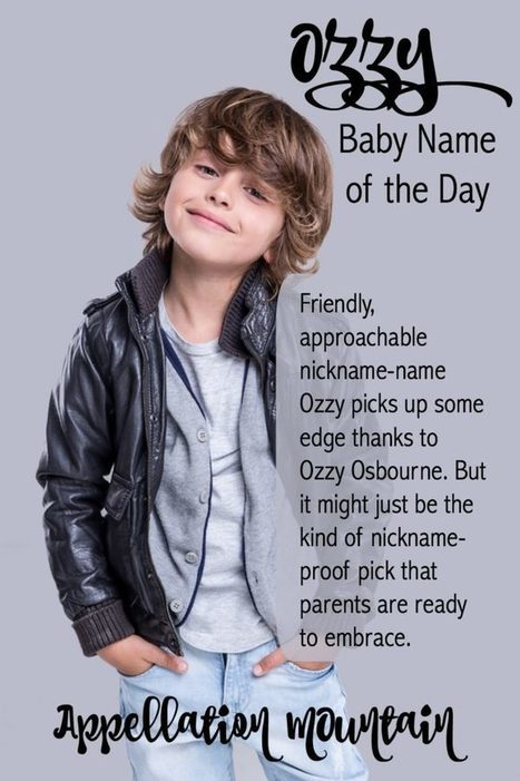 Ozzy: Baby Name of the Day - Appellation Mountain | Name News | Scoop.it