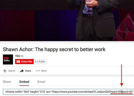 2 Useful Tricks to Know When Sharing YouTube Videos | Technology and Education | Scoop.it