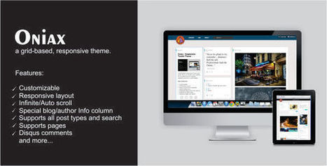 Oniax – Responsive Tumblr Theme Download | Tumblr Templates Download | Scoop.it