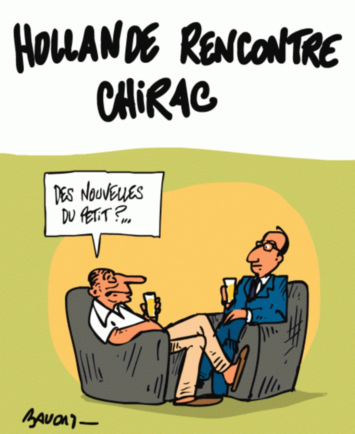 Hollande rencontre Chirac | Baie d'humour | Scoop.it