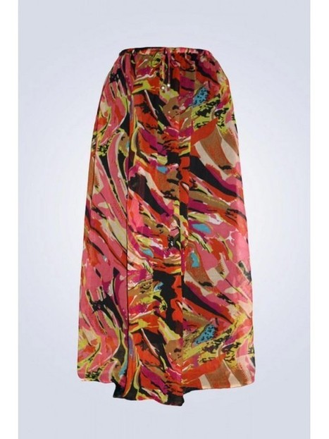 Edaygarments Multi Color Abstract Print Skirt | things to like | Scoop.it