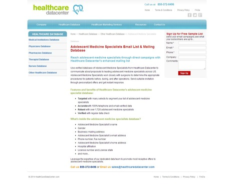 Adolescent Medicine Specialists Email List from Healthcare Datacenter | Healthcare Datacenter | Scoop.it