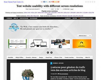 5 outils gratuits en ligne pour tester un site Web dans différentes résolutions | Innovation web | Scoop.it