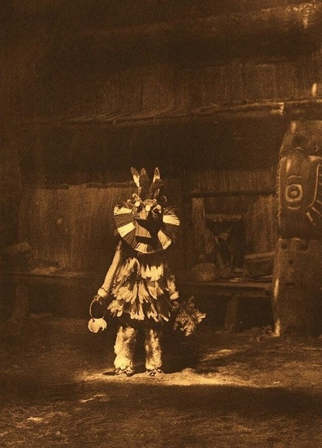 Edward S. Curtis, Cowichan (Masked Dancer), Vancouver Island, c. 1913   Cultural History   Scoop.it