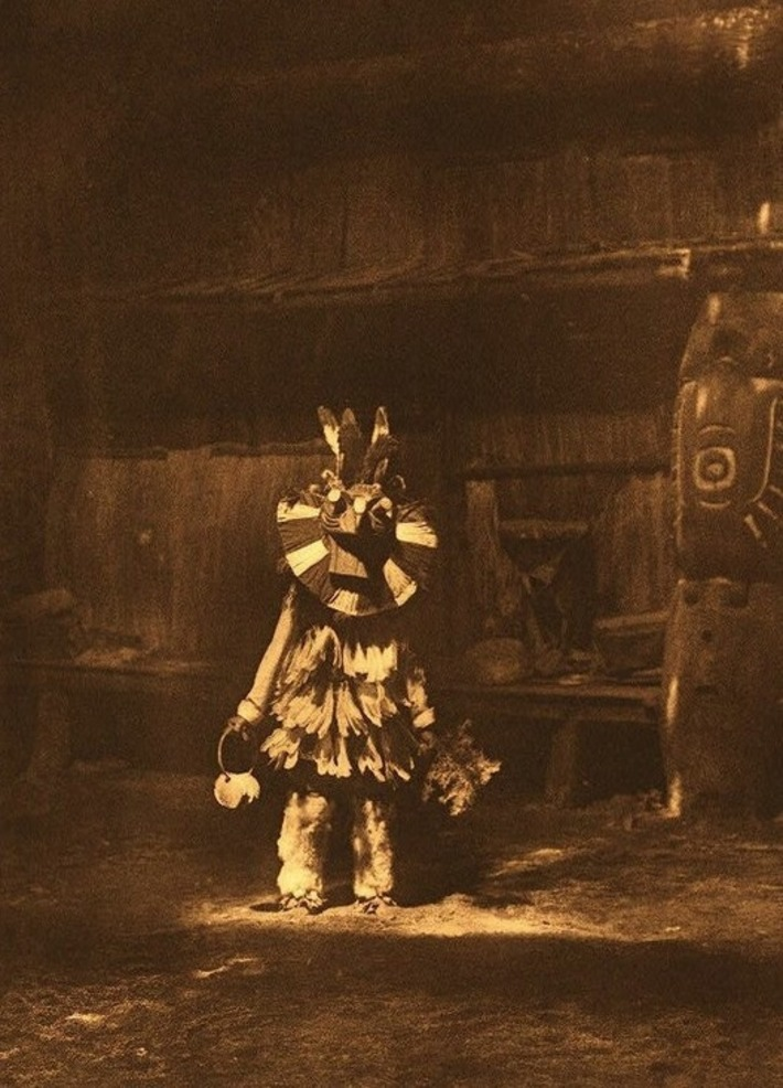 Edward S. Curtis, Cowichan (Masked Dancer), Vancouver Island, c. 1913 | Cultural History | Scoop.it