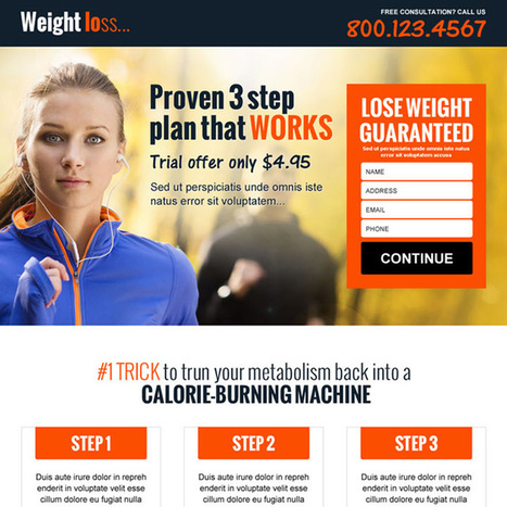 best weight loss workout plan responsive landing page design | buy landing page design | Scoop.it