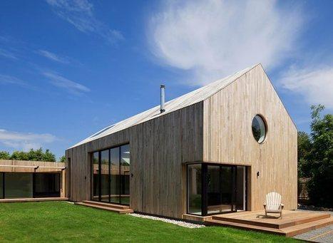 Maison bois contemporaine minimaliste sur l 39 ic for Construire maison minimaliste