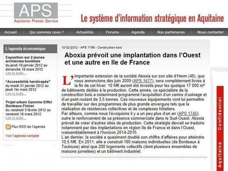 ABOXIA en exlusivité sur Aquitaine Presse Service | Aboxia | Scoop.it