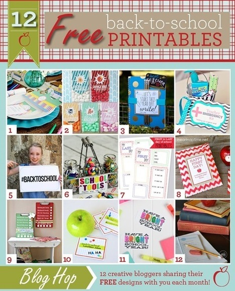 12 Back-To-School Printables - The Idea Room | back to school | Scoop.it