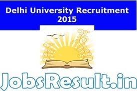 Delhi University Recruitment 2015 299 Non-Teaching Staffing du.ac.in | JobsResult.in | Scoop.it