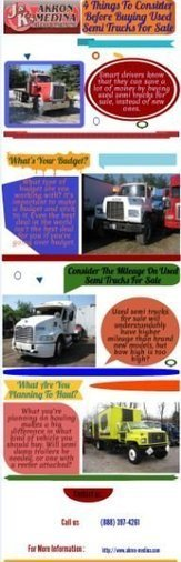 4 THINGS TO CONSIDER BEFORE BUYING USED SEMI TRUCKS FOR SALES | Akron-Medina | Scoop.it