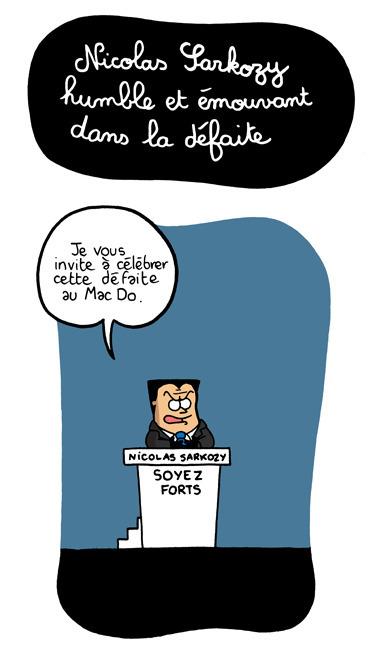 Sarkozy humble et émouvant dans la défaite | 694028 | Scoop.it