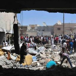 Syrian air strike hits school, killing at least 12 students | War Against Islam | Scoop.it